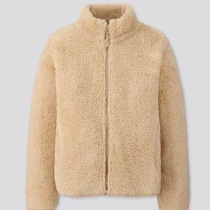 EUC Uniqlo fluffy yarn fleece jacket